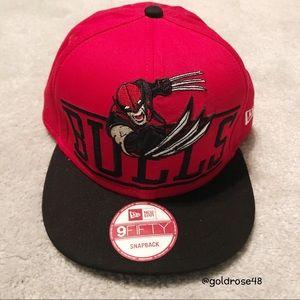 New Era Bulls Wolverine snapback hat